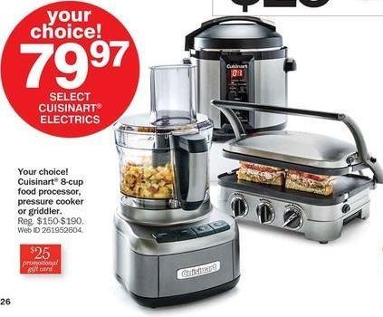 Bon-Ton Black Friday: Cuisinart Pressure Cooker + $25 Promotional Gift Card for $79.97