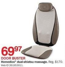 Bon-Ton Black Friday: HoMedics Dual-Shiatsu Massager for $69.97