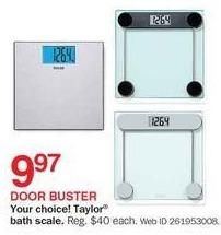 Bon-Ton Black Friday: Taylor Bath Scale, Select Styles for $9.97