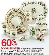 Bon-Ton Black Friday: Lenox and Spode Seasonal Dinnerware - 60% Off