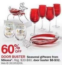 Bon-Ton Black Friday: Mikasa Seasonal Giftware - 60% Off