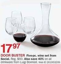 Bon-Ton Black Friday: Social 5-pc Wine Set for $17.97