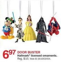 Bon-Ton Black Friday: Hallmark Licensed Ornaments for $6.97