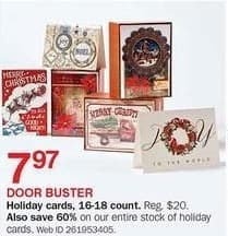 Bon-Ton Black Friday: 16-18 Count Holiday Cards for $7.97