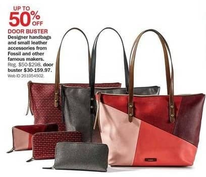 Bon-Ton Black Friday: Designer Handbags and Small Leather Accessories: Fossil and Other Famous Makers - Up to 50% Off
