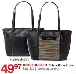 Bon-Ton Black Friday: Calvin Klein Totes for $49.97