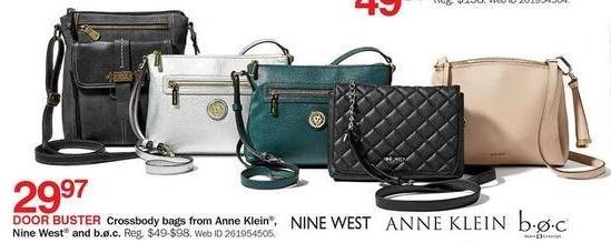 Bon-Ton Black Friday: Nine West, b.o.c. and Anne Klein Crossbody Bags for $29.97