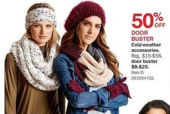 Bon-Ton Black Friday: Women's Cold-Weather Accessories - 50% Off