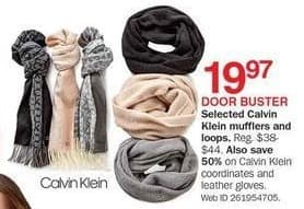 Bon-Ton Black Friday: Calvin Klein Women's Mufflers and Loops, Select Styles for $19.97