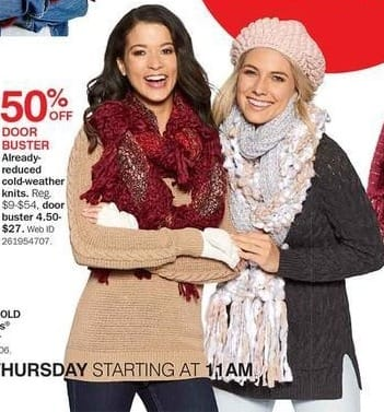 Bon-Ton Black Friday: Already-Reduced Women's Cold-Weather Knits - 50% Off