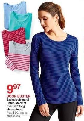 Bon-Ton Black Friday: Entire Stock Exertek Women's Long Sleeve Tees for $9.97