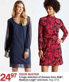 Bon-Ton Black Friday: Women's Dresses: AGB, Madison Leigh & More for $24.97