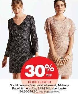 Bon-Ton Black Friday: Women's Social Dresses: Jessica Howard, Adrianna Papell & More - 30% Off