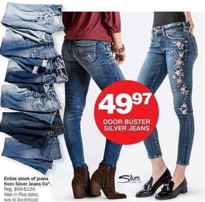 Bon-Ton Black Friday: Entire Stock Silver Jeans Co. Women's Jeans for $49.97