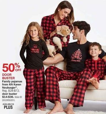 Bon-Ton Black Friday: KN Karen Neuburger Men's, Women's and Kids' Pajamas for $14.00 - $36.00