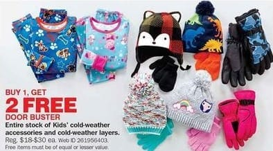 Bon-Ton Black Friday: Entire Stock Kids' Cold-Weather Accessories and Cold-Weather Layers - B1G2 Free