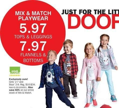 Bon-Ton Black Friday: Mix & Match Playwear Kids' Flannels and Bottoms for $7.97