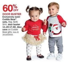 Bon-Ton Black Friday: Cuddle Bear Babies' Sets for $11.20 - $17.60