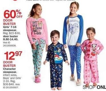 Bon-Ton Black Friday: Girls' Sleepwear for $8.80 - $14.40
