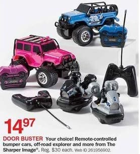 Bon Ton Black Friday Sharper Image Remote Controlled Bumper Cars