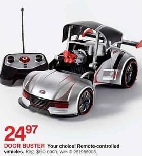 Bon-Ton Black Friday: Remote-Controlled Vehicles, Select Styles for $24.97