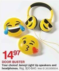 Bon-Ton Black Friday: Jamoji Light Up Speakers and Headphones for $14.97