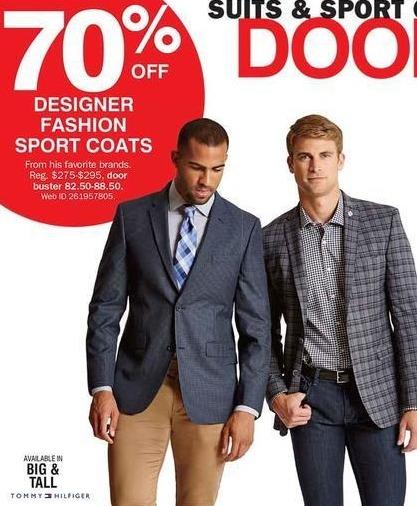 Bon-Ton Black Friday: Designer Men's Fashion Sport Coats for $82.50 - $88.50