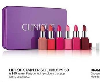 Bon-Ton Black Friday: Clinique Lip Pop Sampler Set for $29.50