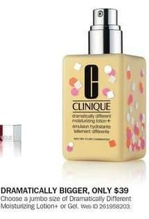 Bon-Ton Black Friday: Clinique Dramatically Different Moisturizing Lotion+ or Gel for $39.00