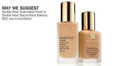 Bon-Ton Black Friday: Estee Lauder Double Wear Nude Water Fresh or Stay-in-Place Makeup for $42.00