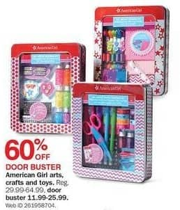 Bon-Ton Black Friday: American Girl Arts, Crafts and Toys for $11.99 - $25.99