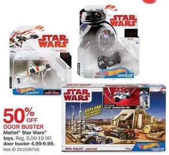 Bon-Ton Black Friday: Mattel Star Wars Toys for $4.99 - $9.99