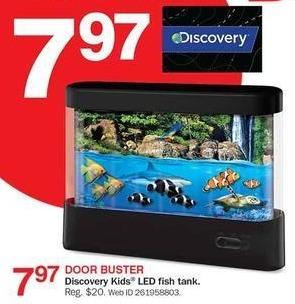 Bon-Ton Black Friday: Discovery Kids LED Fish Tank for $7.97