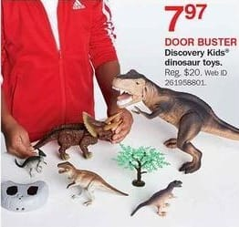 Bon-Ton Black Friday: Discovery Kids Dinosaur Toys for $7.97