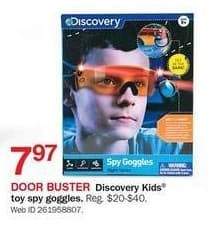 Bon-Ton Black Friday: Discovery Kids Toy Spy Goggles for $7.97