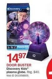 Bon-Ton Black Friday: Discovery Kids Plasma Globe for $14.97