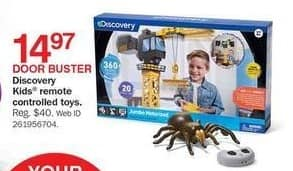 Bon-Ton Black Friday: Discovery Kids Remote Controlled Toys for $14.97