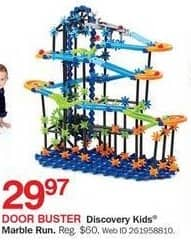 Bon-Ton Black Friday: Discovery Kids Marble Run for $29.97