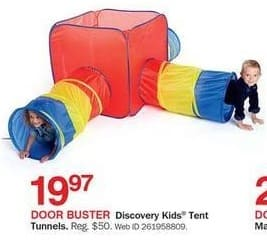 Bon-Ton Black Friday: Discovery Kids Tent Tunnels for $19.97
