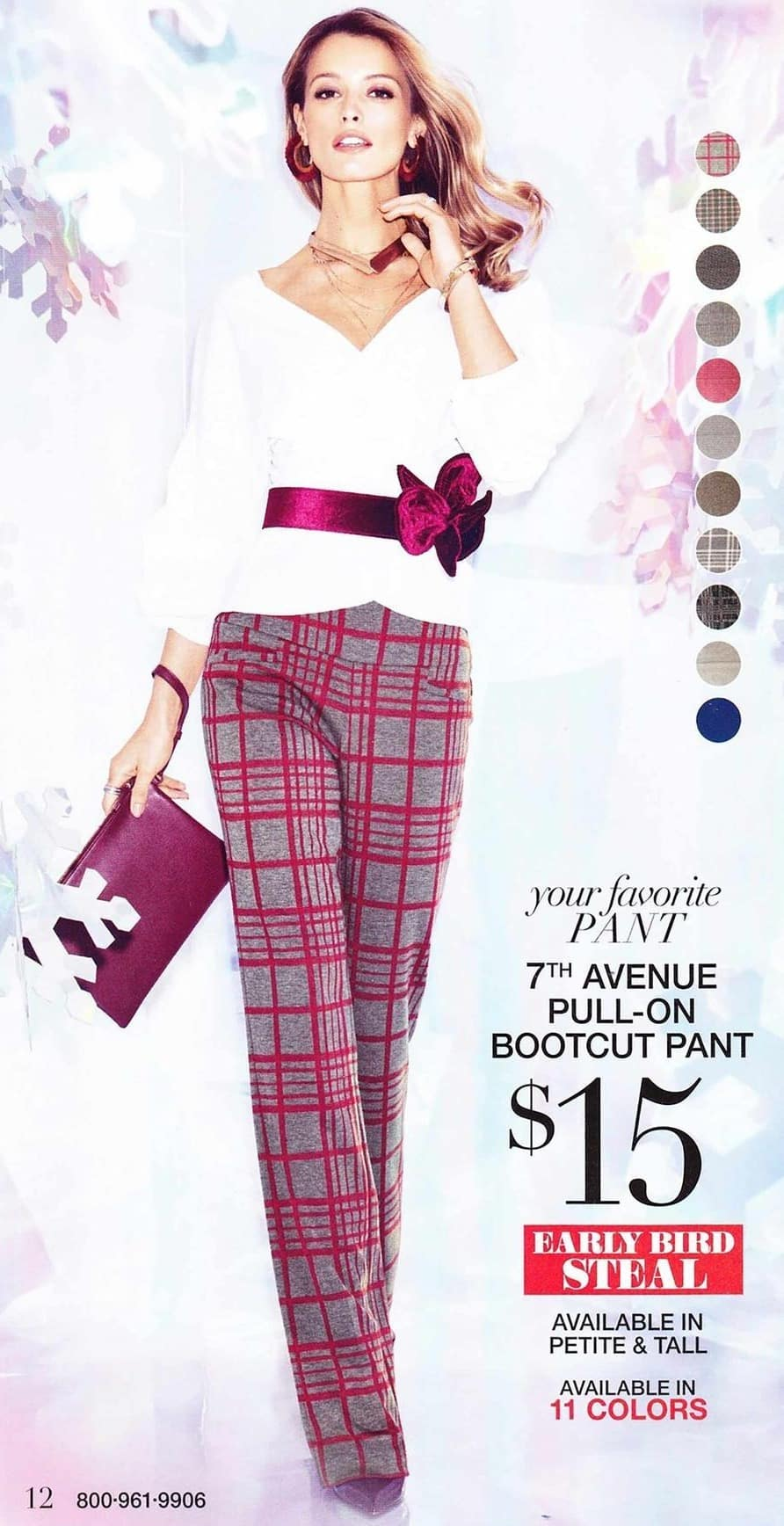 New York and Company Black Friday: Women's 7th Avenue Pull-On Bootcut Pant for $15.00