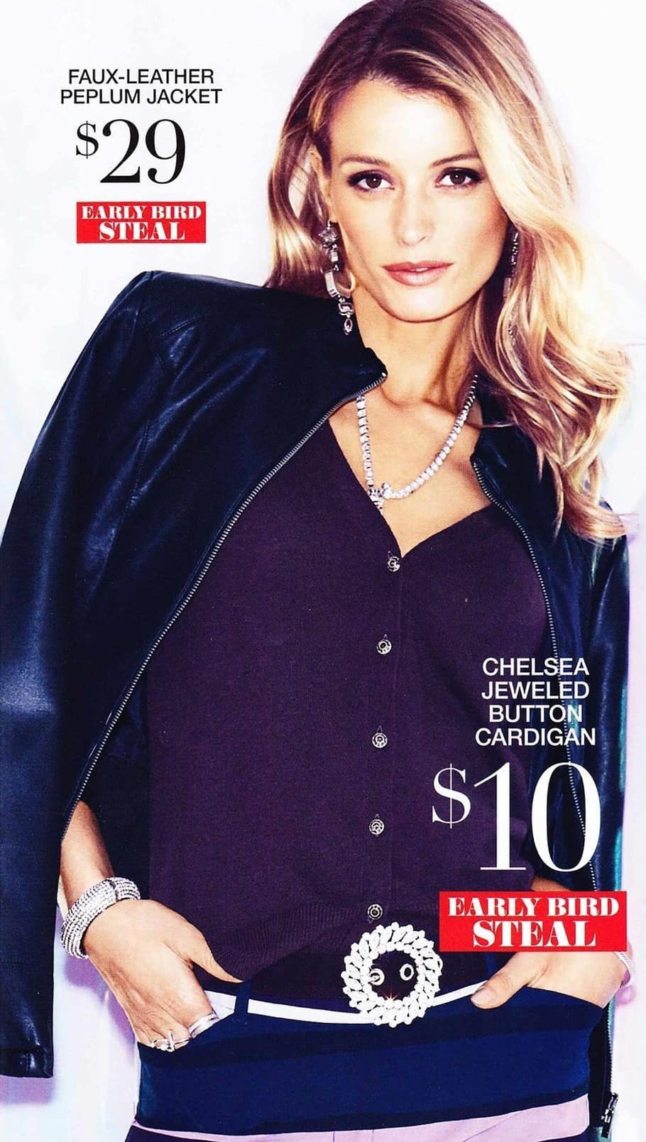 New York and Company Black Friday: Women's Chelsea Jeweled Button Cardigan for $10.00
