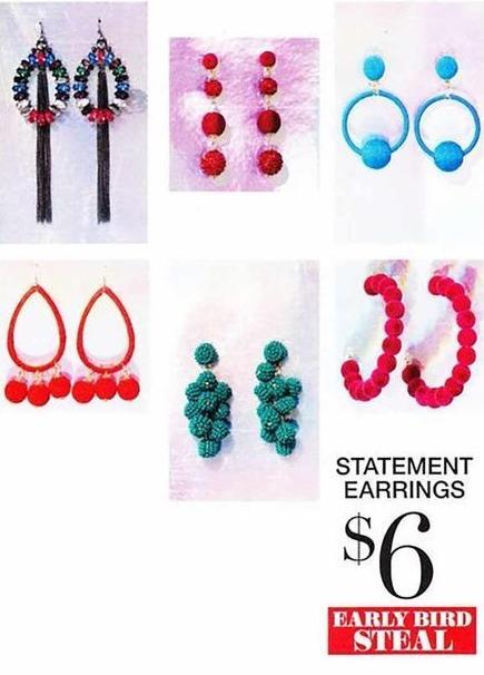 New York and Company Black Friday: Thread Bon Bon, Teardrop or Bon Bon Statement Hoop Earrings for $6.00