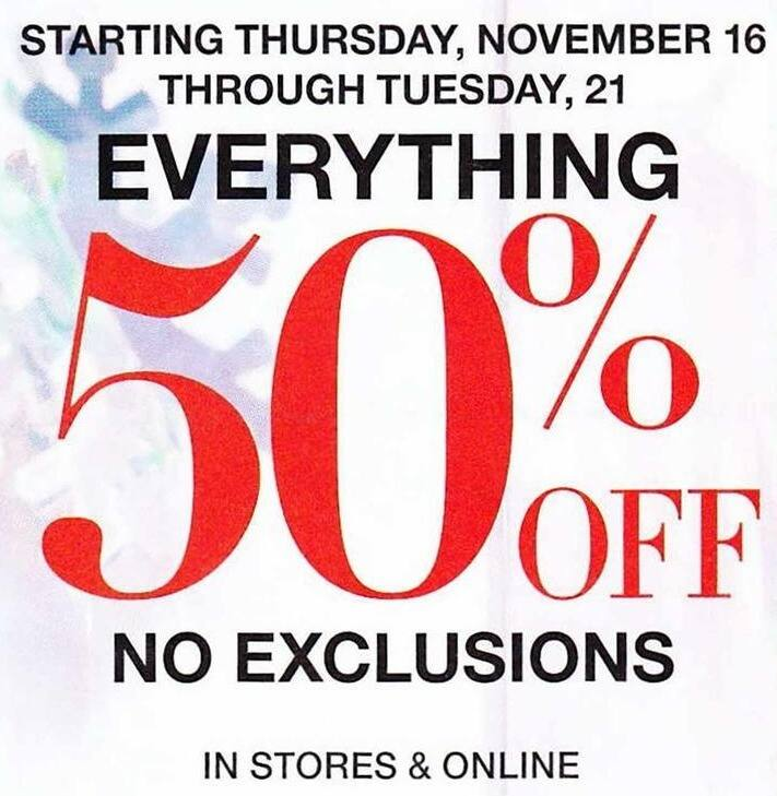 New York and Company Black Friday: Entire Store, No Exclusions - 50% Off