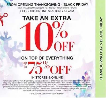New York and Company Black Friday: Everything Up to 75% Off - Extra 10% Off