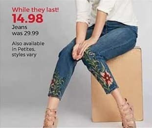Stein Mart Black Friday: Women's Jeans for $14.98