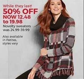 Stein Mart Black Friday: Women's Novelty Sweaters for $12.48 - $19.98