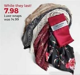 Stein Mart Black Friday: Luxe Wraps for $7.98