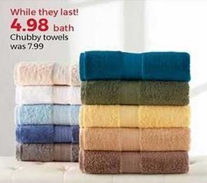 Stein Mart Black Friday: Chubby Bath Towels for $4.98