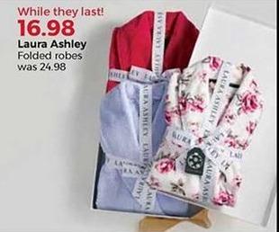 Stein Mart Black Friday: Laura Ashley Women's Folded Robes for $16.98