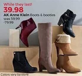 Stein Mart Black Friday: AK Anne Klein Women's Boots and Booties for $39.98